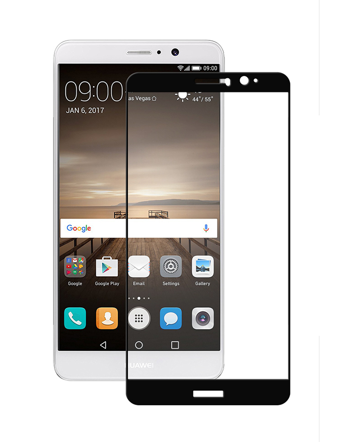 Купить Защитное стекло Full screen PowerPlant для Huawei Mate 9 Black