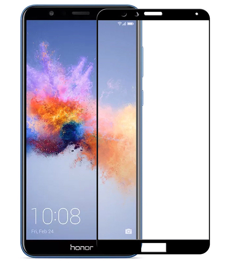 Купить Защитное стекло Full screen PowerPlant для Huawei Honor 7X Black