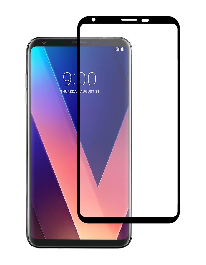 Купить Защитное стекло Full screen PowerPlant для LG V30+ Black