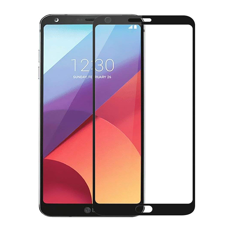 Купить Защитное стекло Full screen PowerPlant для LG G6 Black