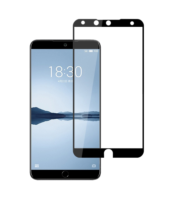 Купить Защитное стекло Full screen PowerPlant для Meizu 15 Plus Black