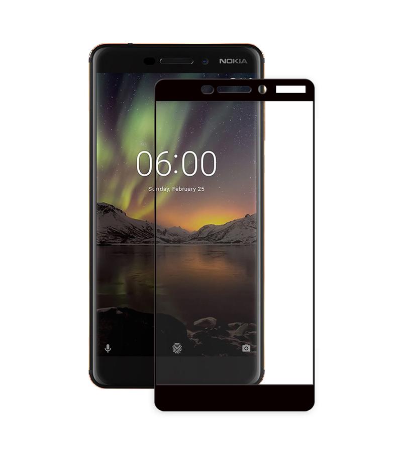 Купить Защитное стекло Full screen PowerPlant для Nokia 6.1, Black