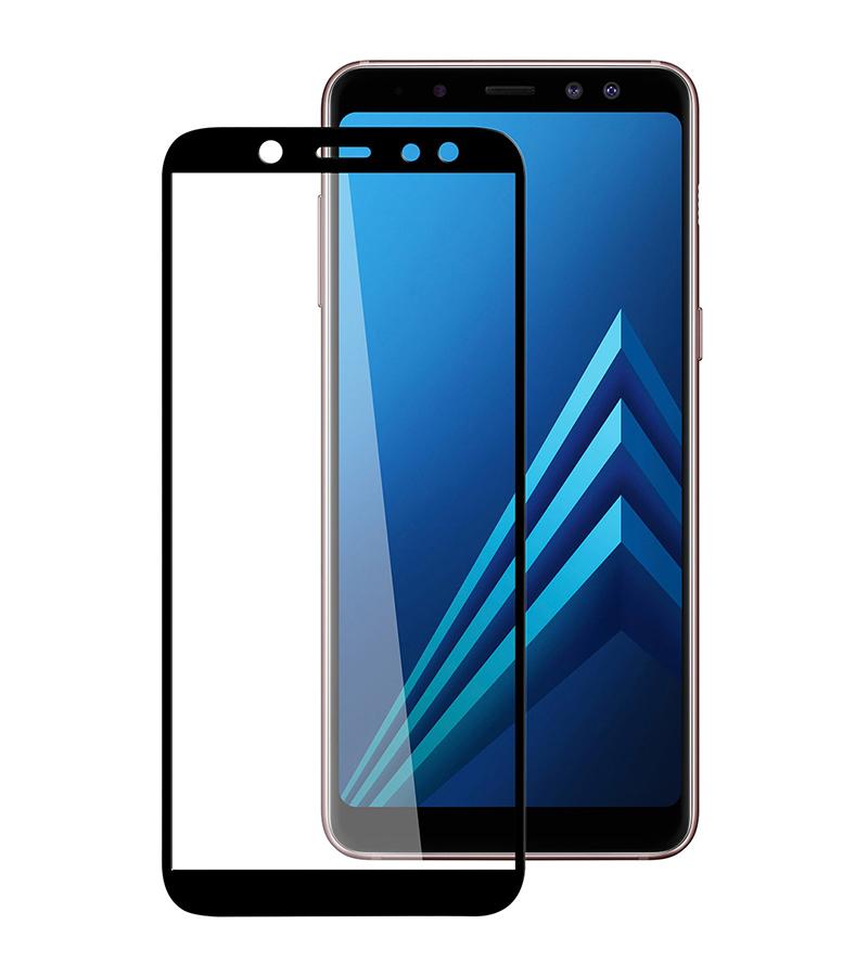 Купить Защитное стекло Full screen PowerPlant для Samsung Galaxy A6, Black