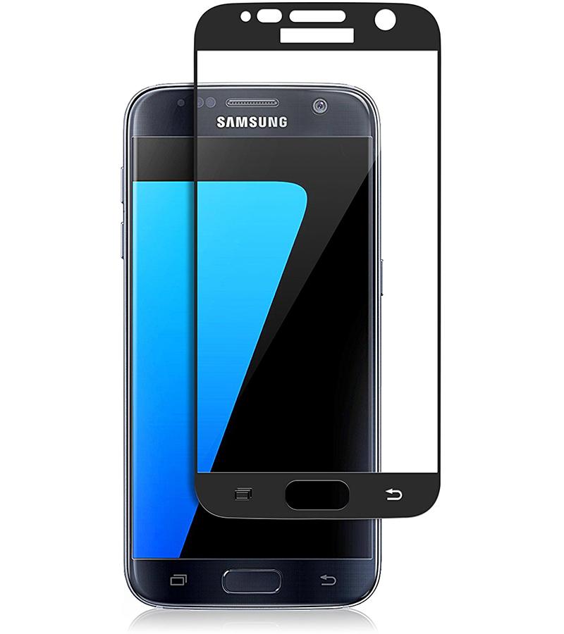Купить Защитное стекло Full screen PowerPlant для Samsung Galaxy S7 Black