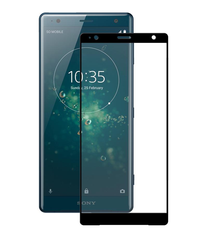 Купить Защитное стекло Full screen PowerPlant для Sony Xperia XZ2, Black