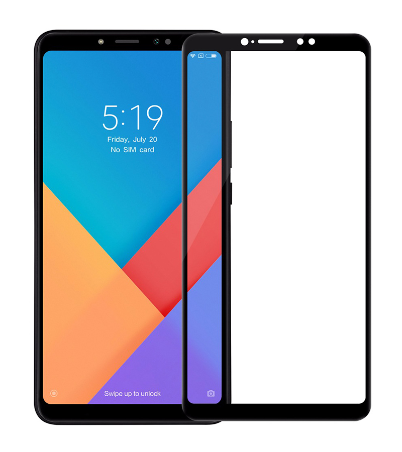 Купить Защитное стекло Full screen PowerPlant для Xiaomi Mi Max 3, Black