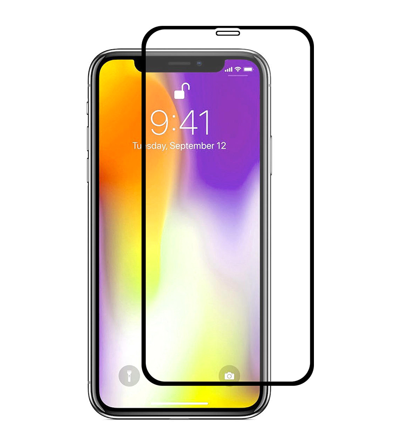 Купить Защитное стекло Full screen PowerPlant для Apple iPhone XS, Black