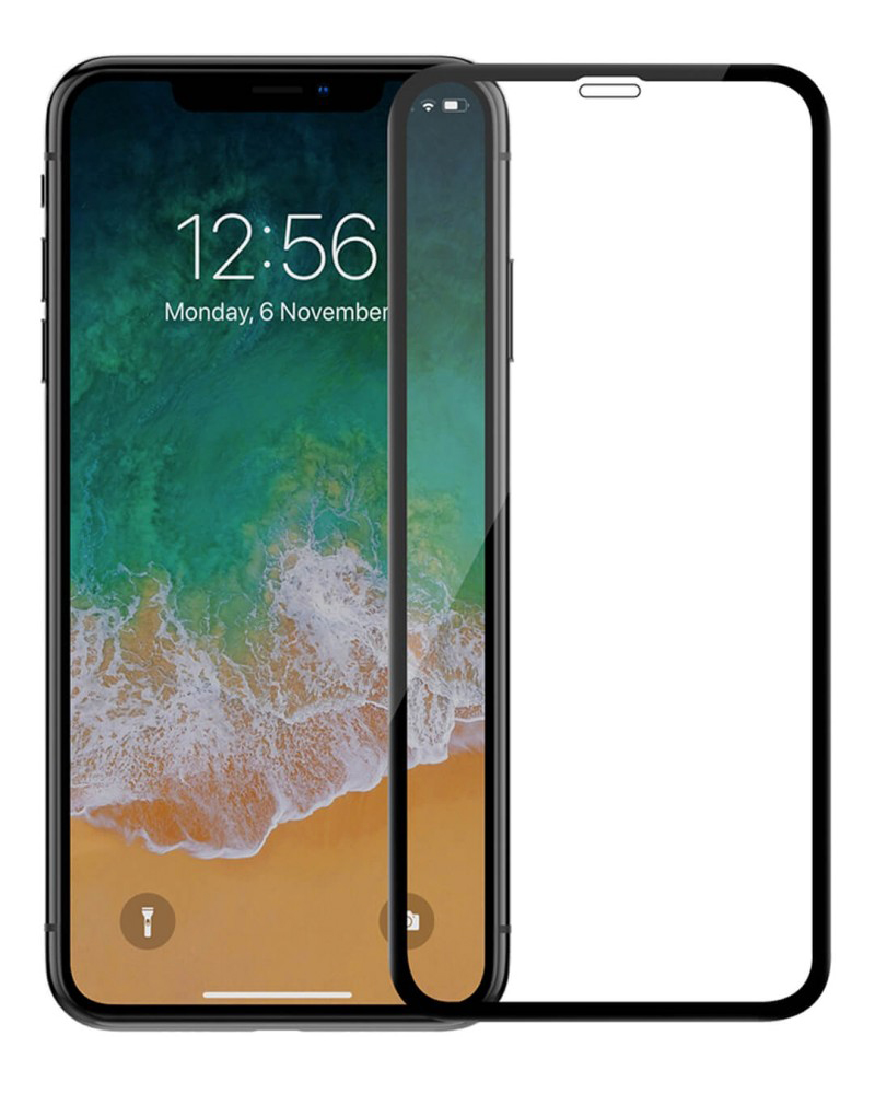 Купить Защитное стекло Full screen PowerPlant для Apple iPhone XR, Black