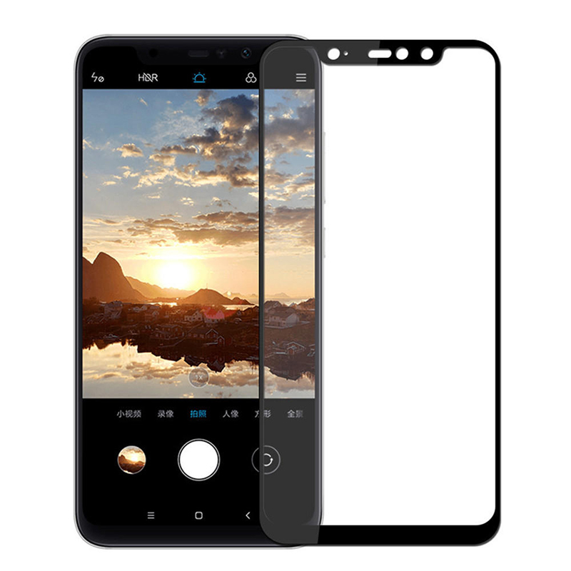 Купить Защитное стекло Full screen PowerPlant для Xiaomi Redmi Note 6 Pro, Black