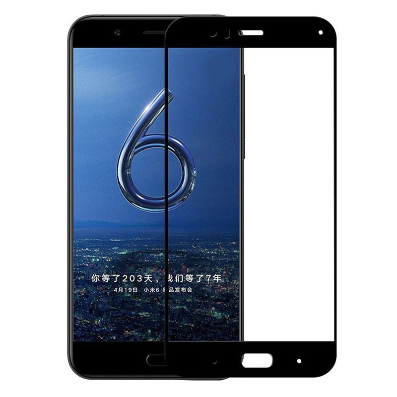 Купить Защитное стекло Full screen PowerPlant для Xiaomi Mi 6, Black