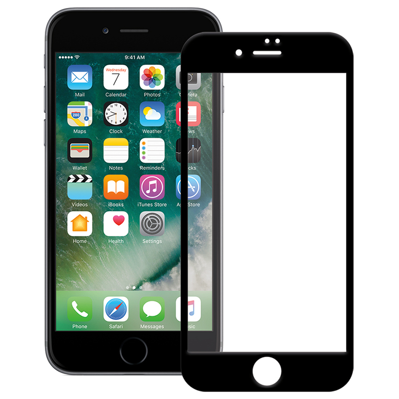 Купить Защитное стекло Full screen PowerPlant для Apple iPhone 7, Black