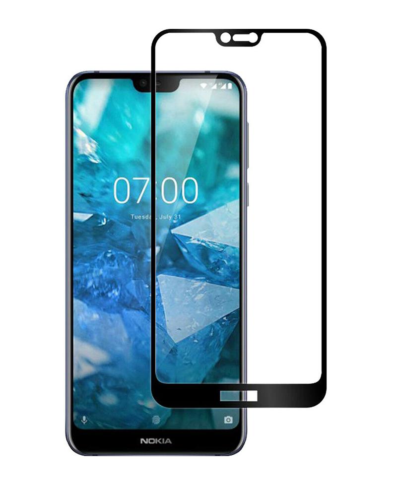 Купить Защитное стекло Full screen PowerPlant для Nokia 7.1, Black