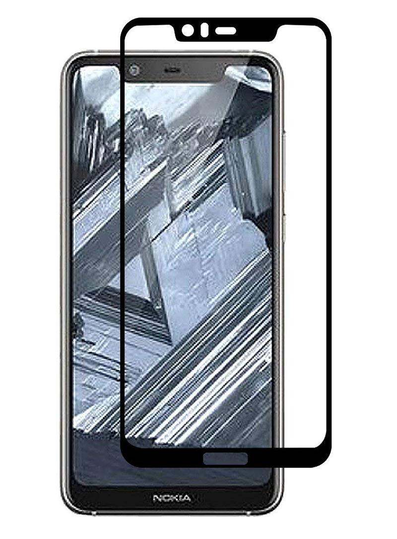 Купить Защитное стекло Full screen PowerPlant для Nokia 5.1 Plus, Black
