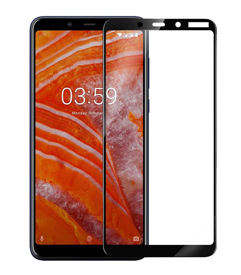 Купить Защитное стекло Full screen PowerPlant для Nokia 3.1 Plus, Black
