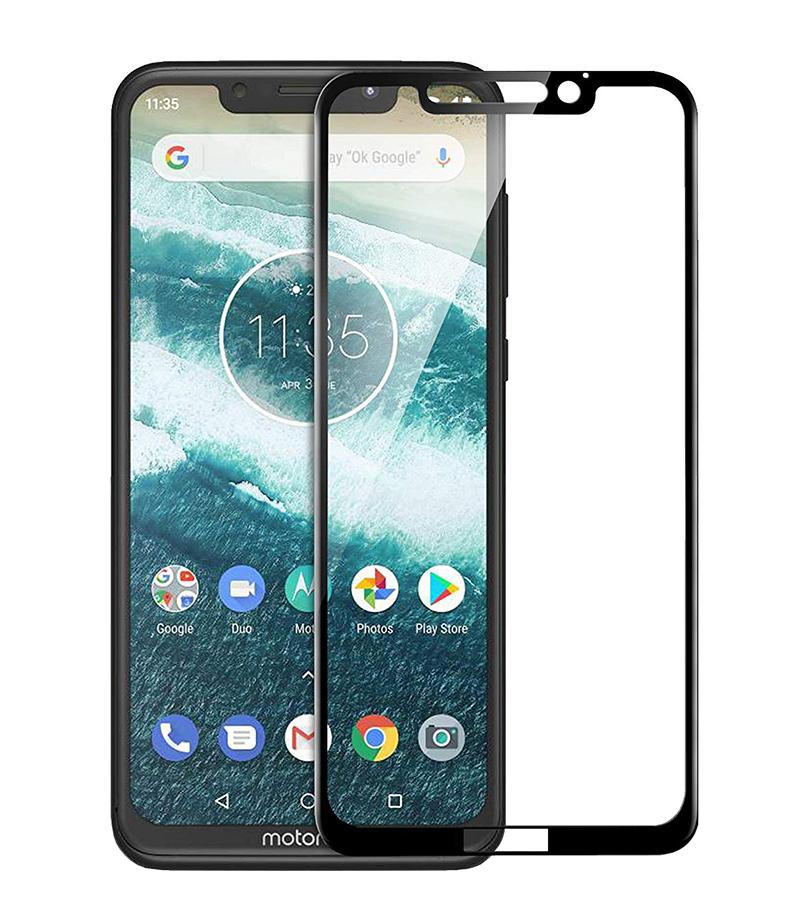 Купить Защитное стекло Full screen PowerPlant для Motorola One Power, Black