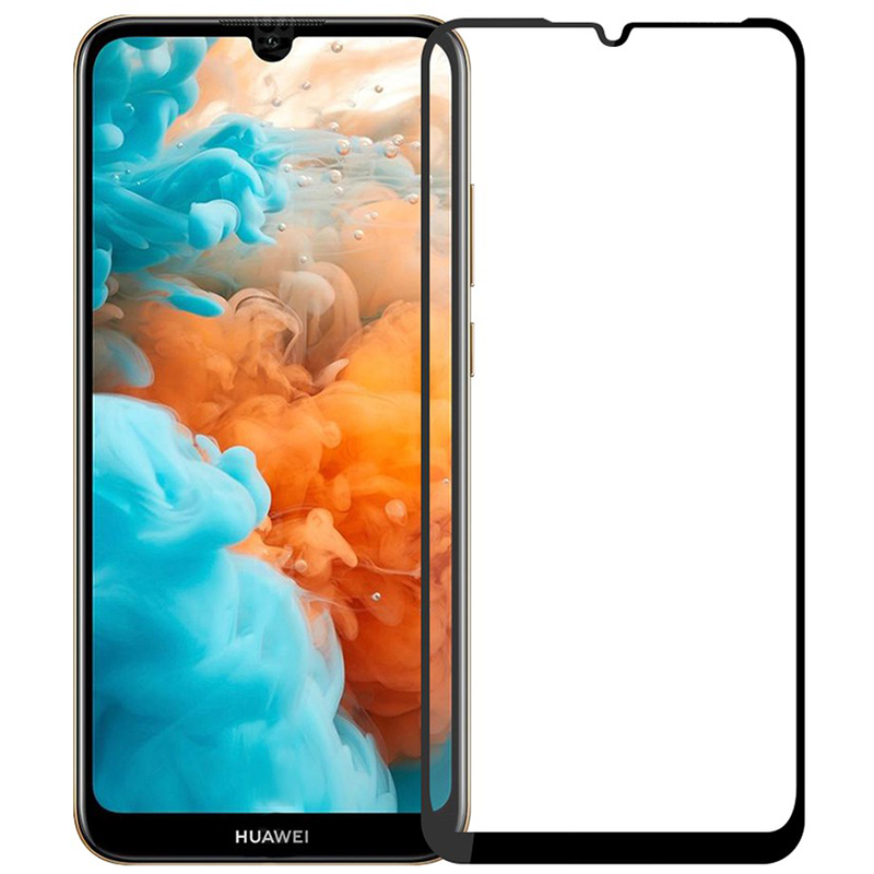 Купить Защитное стекло Full screen PowerPlant для Huawei Y7 (2019), Black