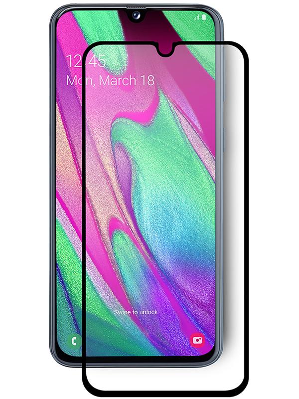 Купить Защитное стекло Full screen PowerPlant для Samsung Galaxy A40, Black