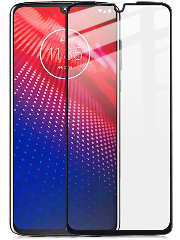 Купить Защитное стекло Full screen PowerPlant для Motorola Moto Z4, Black