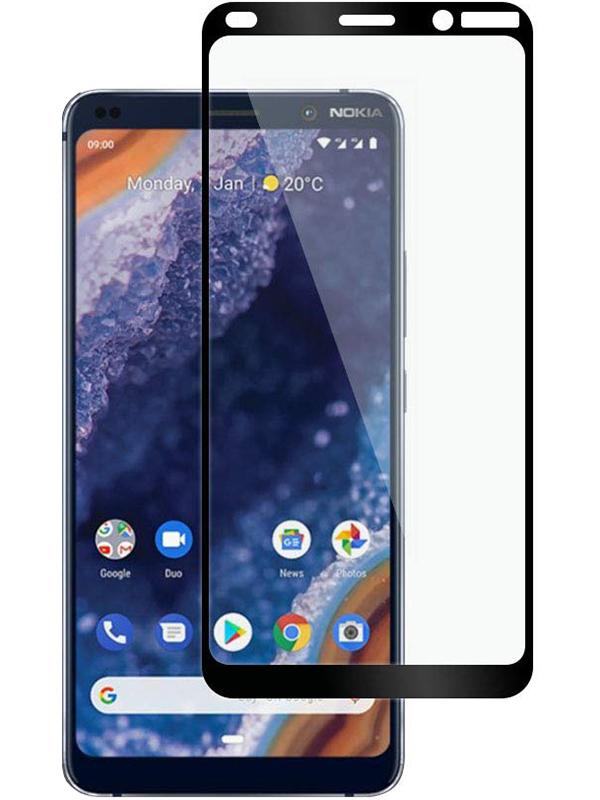 Купить Защитное стекло Full screen PowerPlant для Nokia 9 PureView, Black