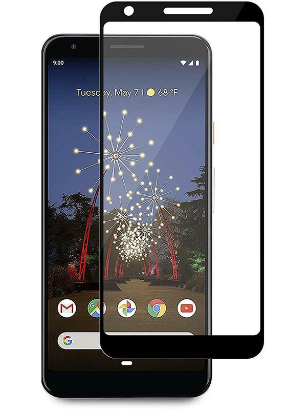 Купить Защитное стекло Full screen PowerPlant для Google Pixel 3a, Black