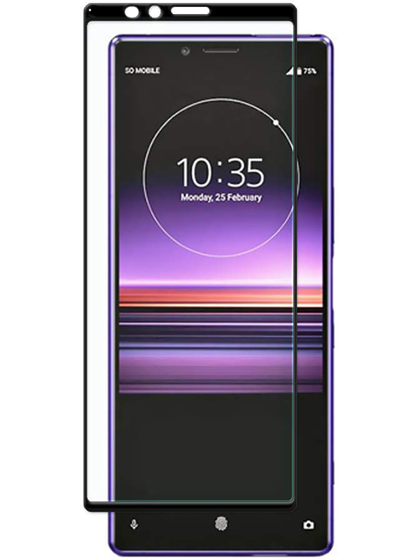 Купить Защитное стекло Full screen PowerPlant для Sony Xperia 1 (Xperia XZ4), Black
