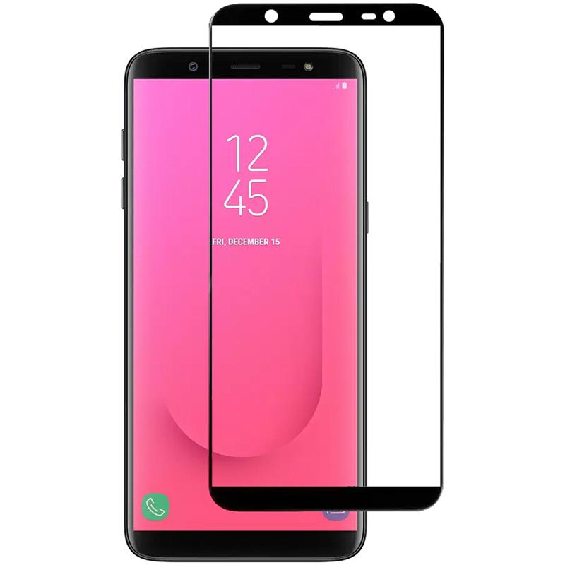 Купить Защитное стекло Full screen PowerPlant для Samsung Galaxy J8, Black