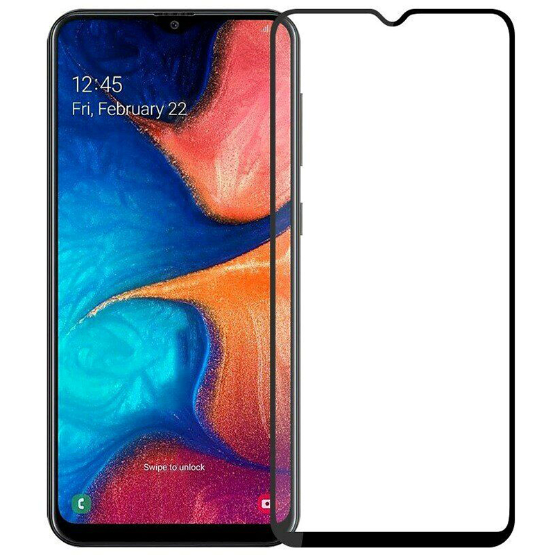 Купить Защитное стекло Full screen PowerPlant для Samsung Galaxy A20S, Black