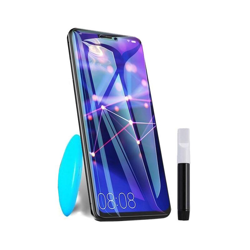 Купить Защитное стекло PowerPlant для Samsung Galaxy Note 10 (жидкий клей + УФ лампа)