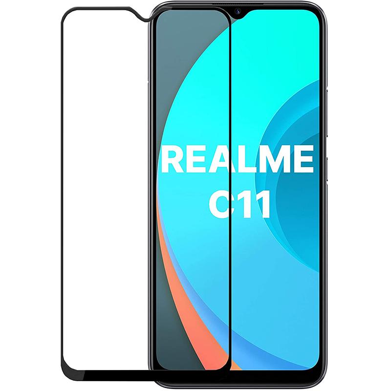 Купить Защитное стекло Full screen PowerPlant для Realme C11, Black