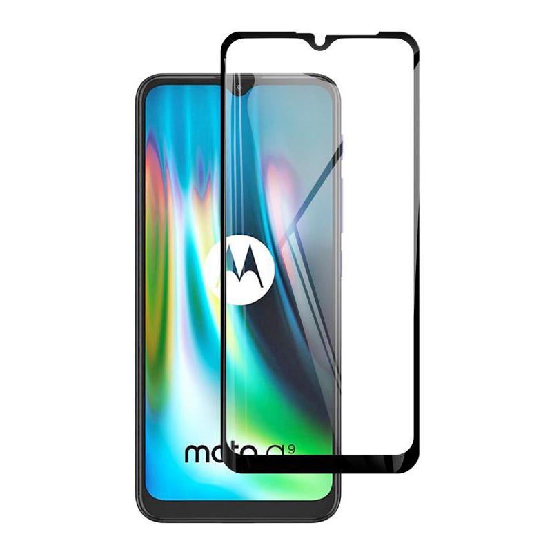 Купить Защитное стекло Full screen PowerPlant для Motorola Moto G9, Black