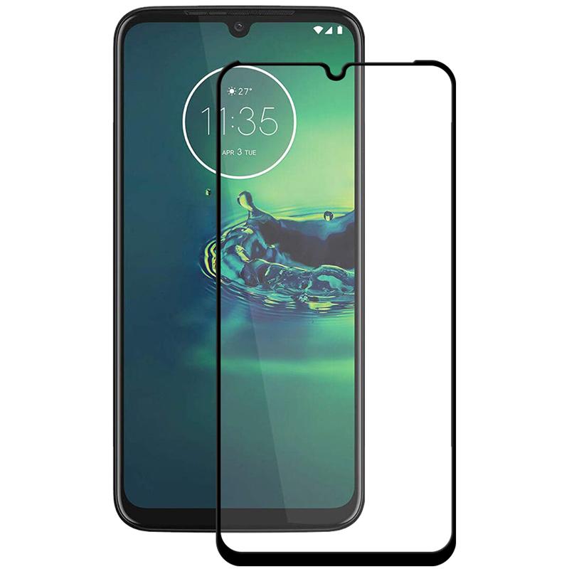 Купить Защитное стекло Full screen PowerPlant для Motorola Moto G8 Plus, Black
