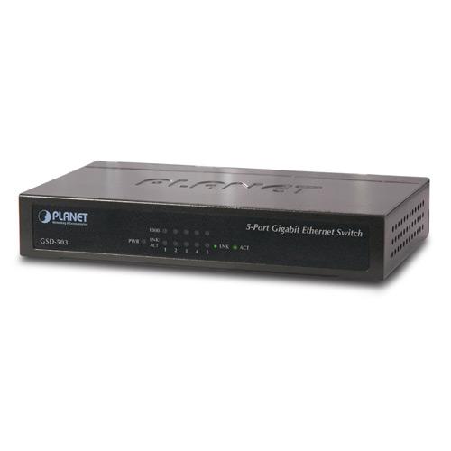 Купить Гигабитный коммутатор для дома и малого офиса Planet GSD-503 (5-Port 10/100/1000Mbps)