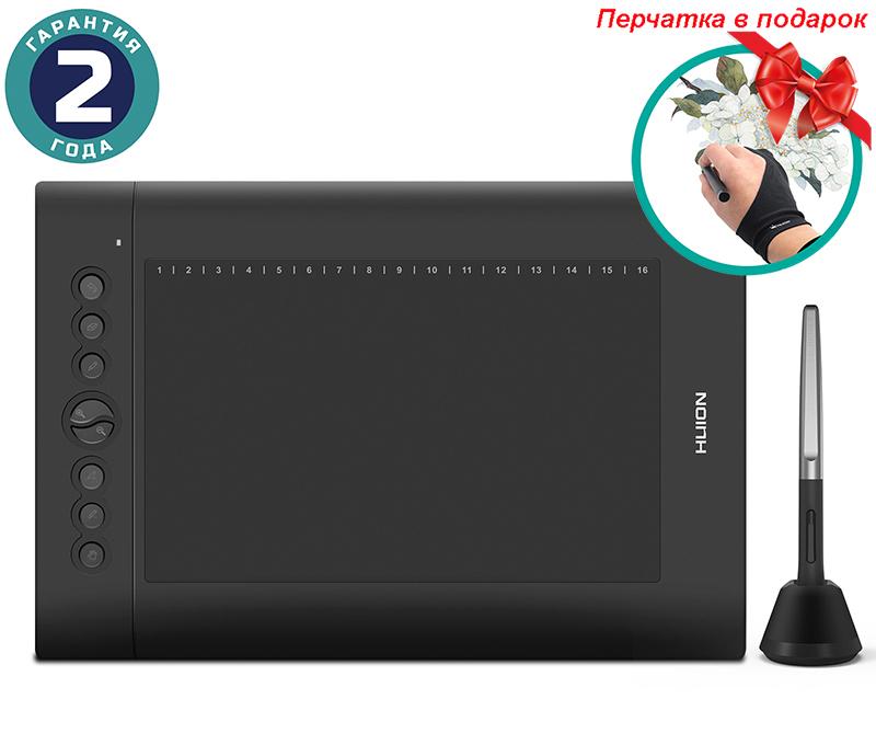 Купить Графический планшет Huion H610Pro V2 + перчатка
