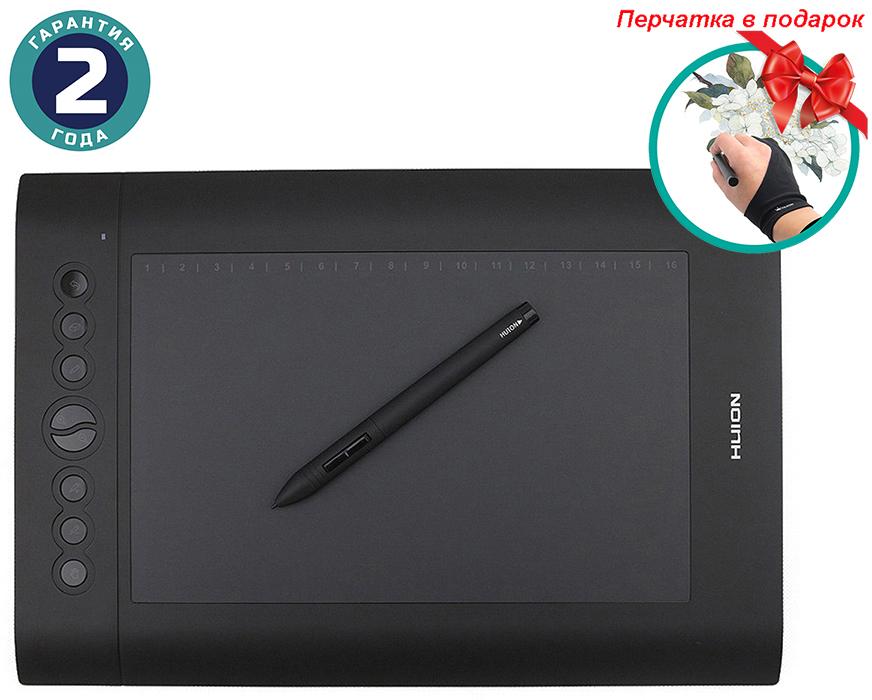 Купить Графический планшет Huion H610Pro + перчатка