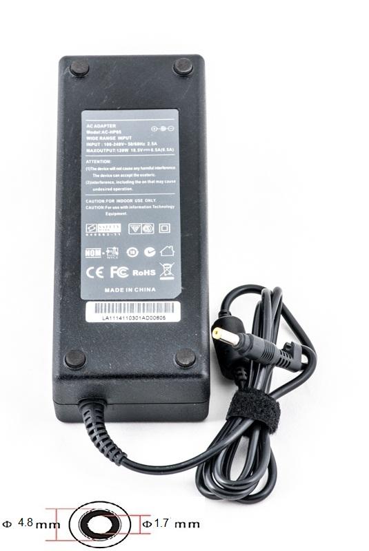 Купить Блок питания для ноутбуков PowerPlant HP 220V, 18.5V 120W 6.5A (4.8*1.7)