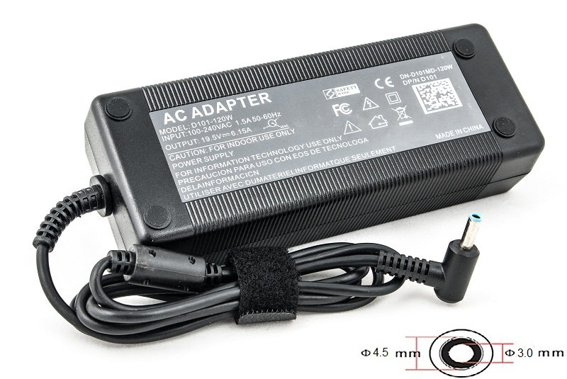 Купить Блок питания для ноутбуков PowerPlant HP 220V, 19.5V 120W 6.15A (4.5*3.0)
