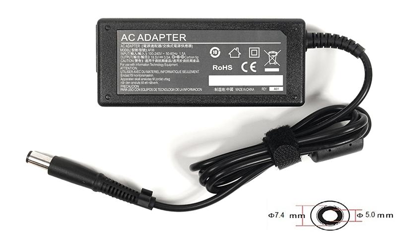 Купить Блок питания для ноутбуков PowerPlant HP 220V, 18.5V 65W 3.5A (7.4*5.0)