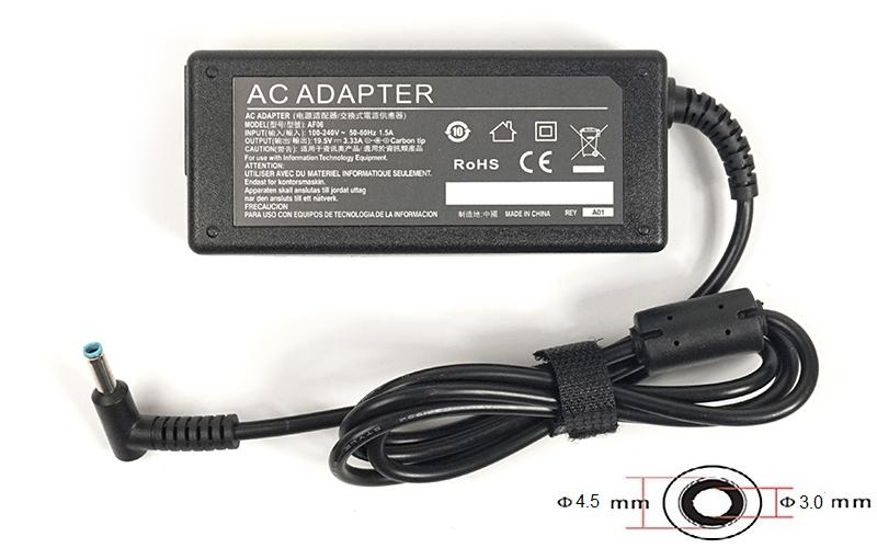 Купить Блок питания для ноутбуков PowerPlant HP 220V, 19.5V 65W 3.33A (4.5*3.0)