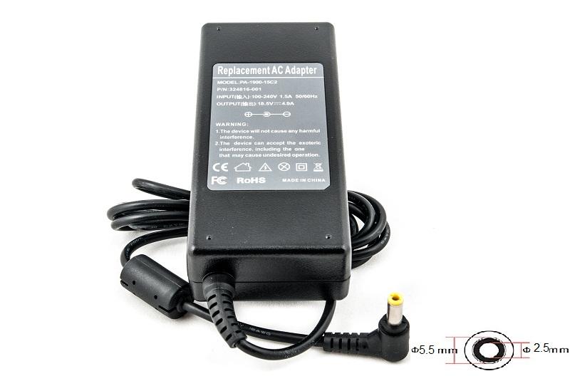 Купить Блок питания для ноутбуков PowerPlant HP 220V, 18.5V 90W 4.9A (5.5*2.5)
