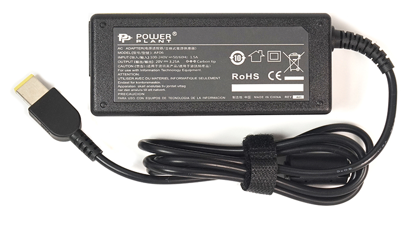 Купить Блок питания для ноутбуков PowerPlant IBM/LENOVO 220V, 20V 65W 3.25A (Special)