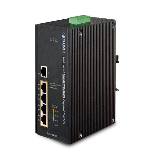 Купить Промышленный коммутатор PoE Planet IGS-504HPT (5-Port  with 4-Port 802.3at PoE+ )