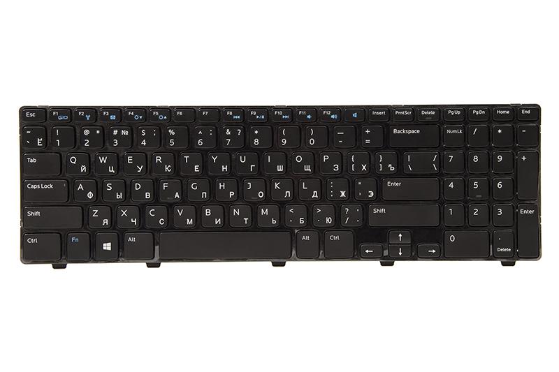 Купить Клавиатура для ноутбука DELL Inspiron 15: 3521; Vostro: 2521 черный, черный фрейм
