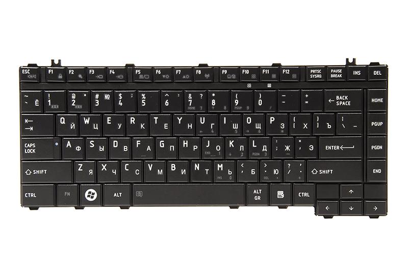 Купить Клавиатура для ноутбука TOSHIBA Satellite A200, A300 черный, черный фрейм