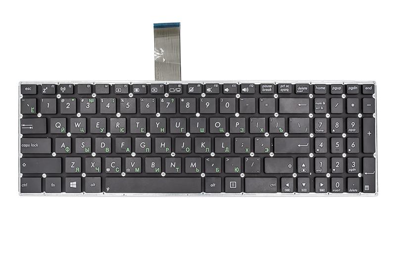 Купить Клавиатура для ноутбука ASUS X501, X550 черный, без фрейма, с креплениями