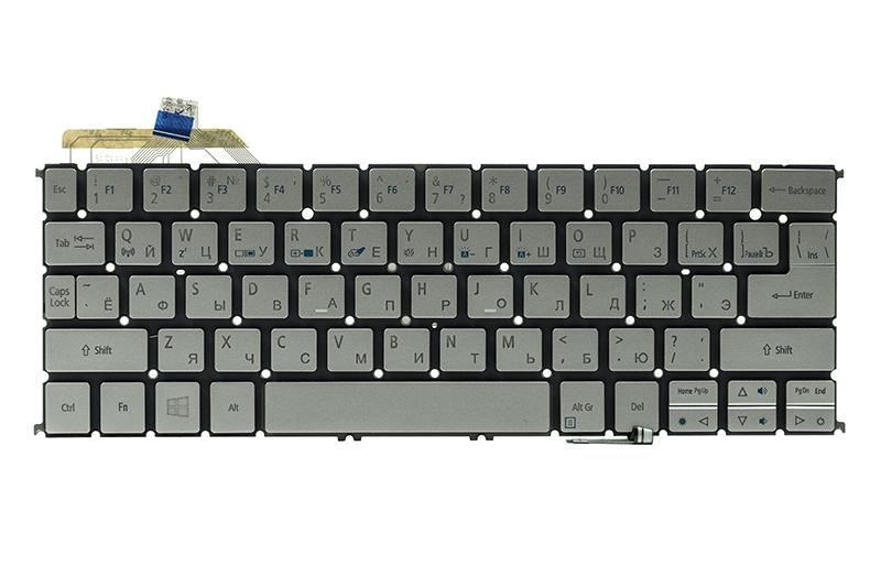 Купить Клавиатура для ноутбука ACER Aspire S7-191 подсветка клавиш, серебристый, без фрейма
