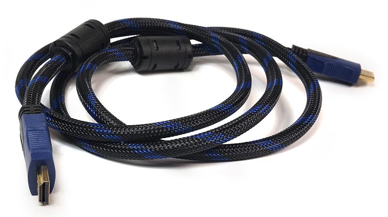 Купить Видео кабель PowerPlant HDMI - HDMI, 1.5м, позолоченные коннекторы, 1.4V, Nylon