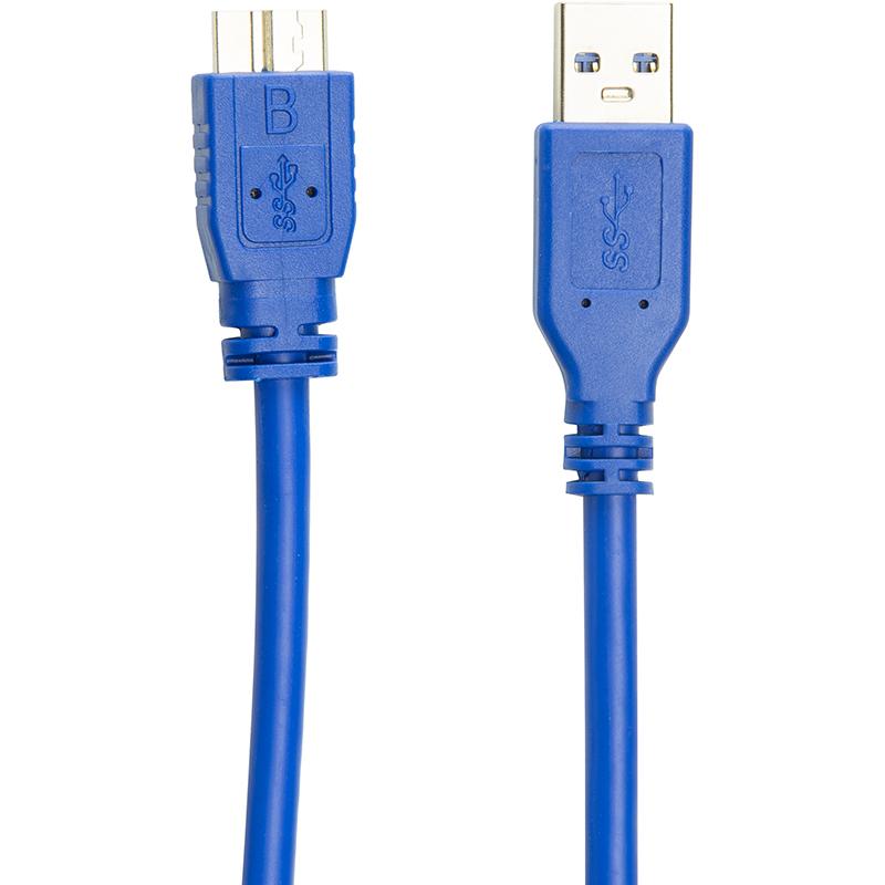 Купить Кабель PowerPlant USB 3.0 AM - Micro, 0.5м
