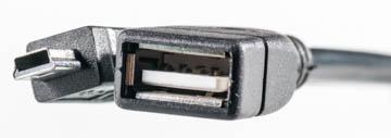 Купить Кабель PowerPlant OTG USB 2.0 AF - Mini, 0.5м