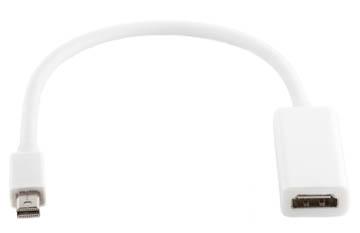 Купить Кабель-переходник PowerPlant HDMI - mini DisplayPort, 0.15м