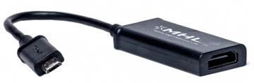 Купить Кабель-переходник PowerPlant HDMI - micro USB, 0.15м, (MHL), Blister
